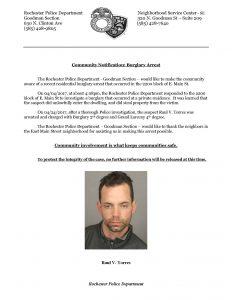 Burglary Arrest - 2200 block of E. Main St - 2017